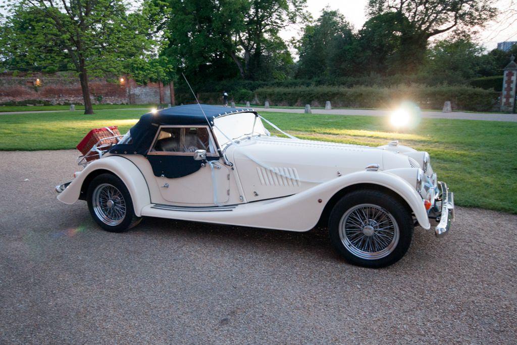 Hertfordshire Wedding Photographer - Morgan wedding car