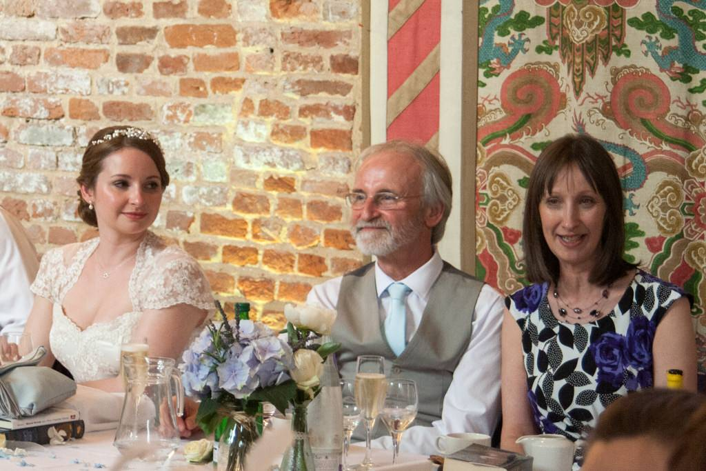 Hertfordshire Wedding Photographer - bride with father and mother