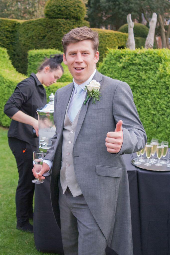 Hertfordshire Wedding Photographer - usher portrait