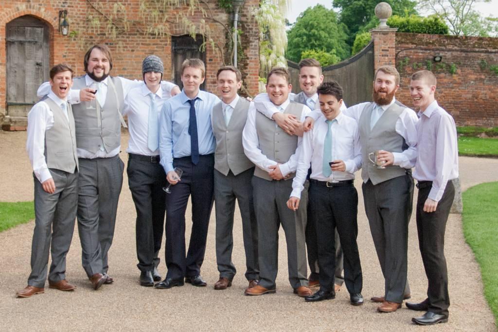 Hertfordshire Wedding Photographer - groom and ushers posing