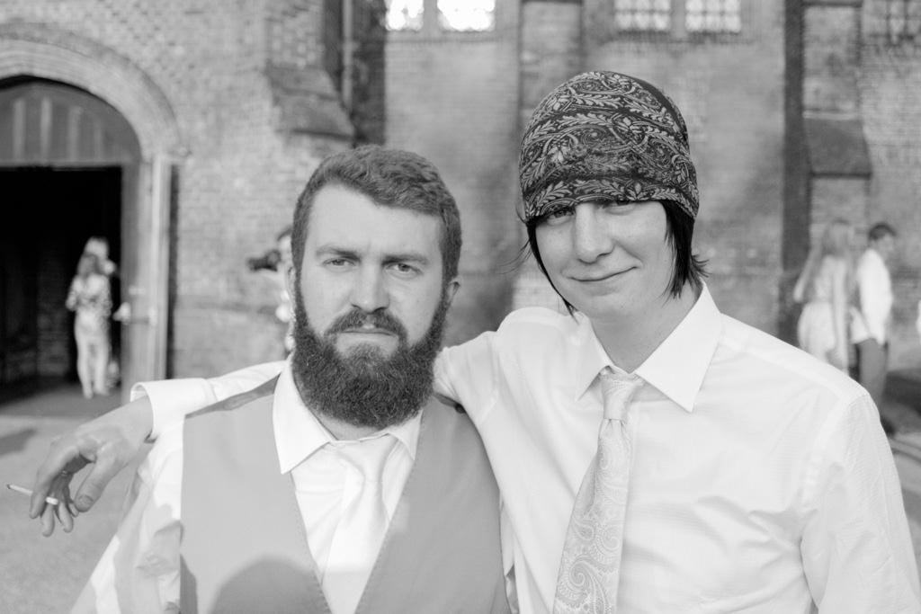 Hertfordshire Wedding Photographer - ushers black and white
