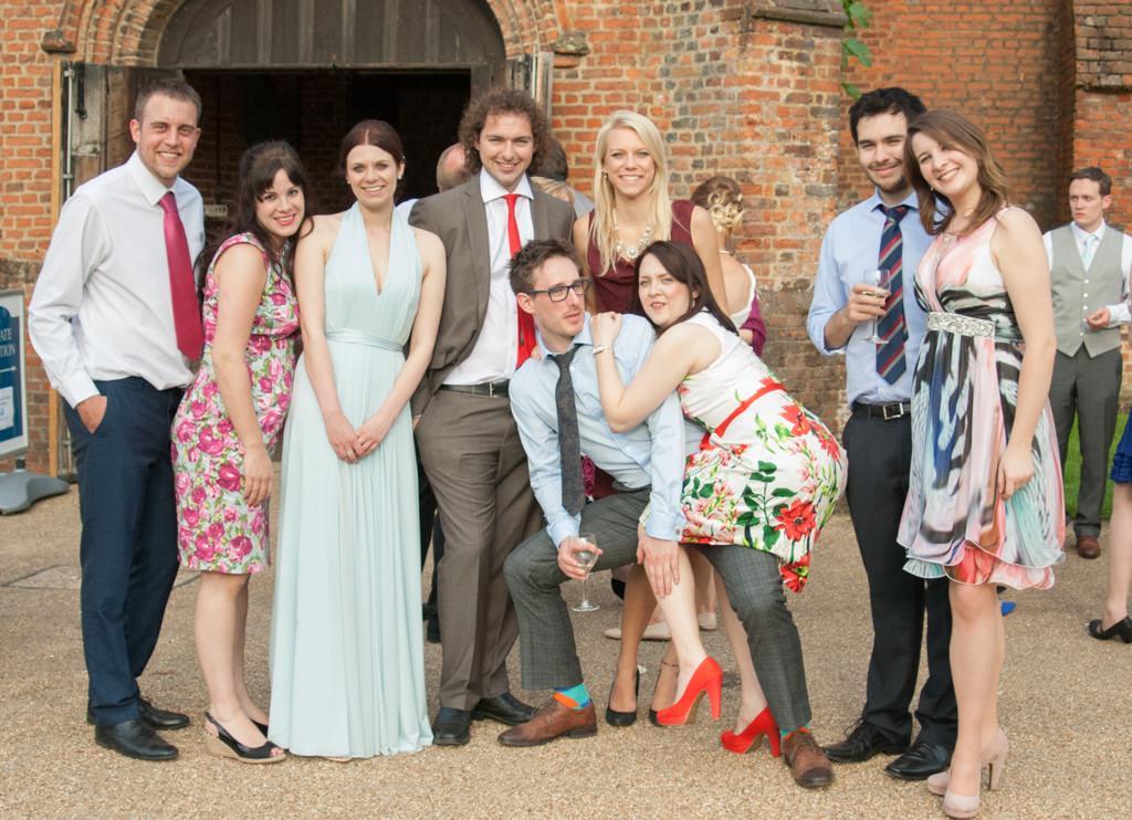 Hertfordshire Wedding Photographer - wedding guests posing together