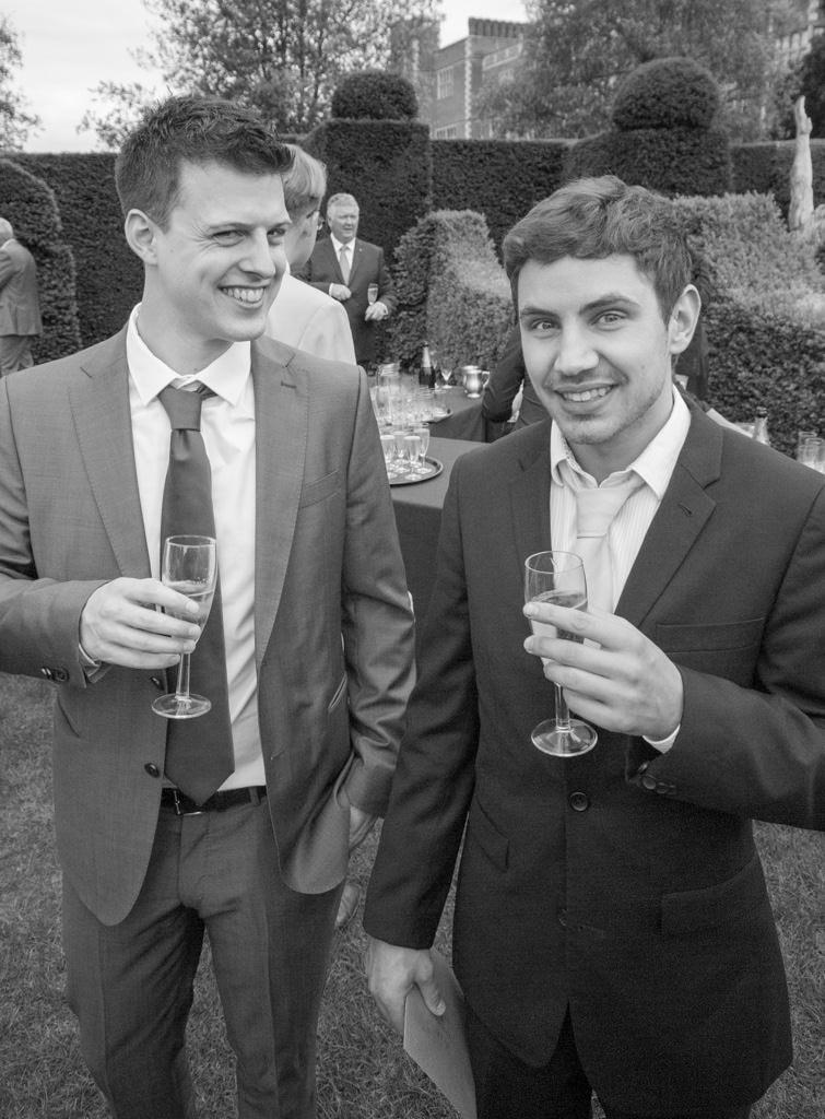 Hertfordshire Wedding Photographer - wedding guests portrait black and white