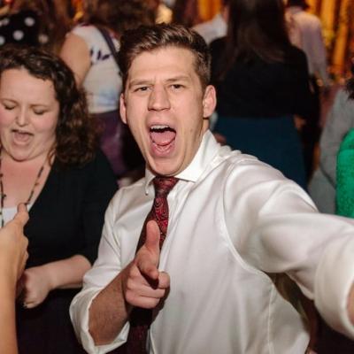 Norfolk wedding photographer – wedding guest dancing