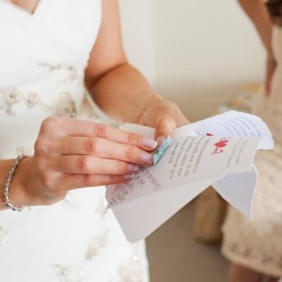 Norfolk wedding photographer – bride with something blue