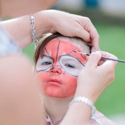 Norfolk wedding photographer – face paint