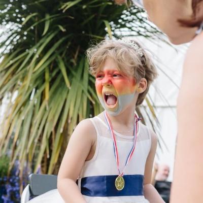 Norfolk wedding photographer – flower girl face paint