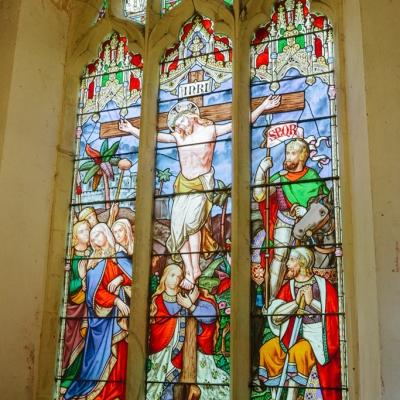 Norfolk wedding photographer – wedding church stained glass window
