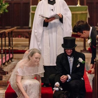 Norfolk wedding photographer – pug ring bearer