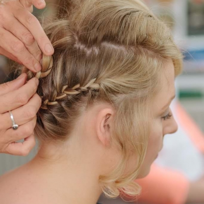 Norfolk wedding photographer – bridal hair