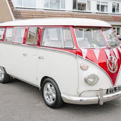 Norfolk wedding photographer – VW camper wedding car