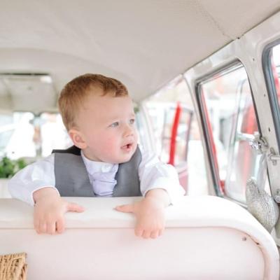 Norfolk wedding photographer – page boy VW camper wedding car