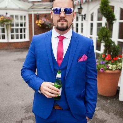 Norfolk wedding photographer – usher in blue suit