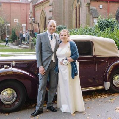 Norfolk wedding photographer – wedding car bride and groom