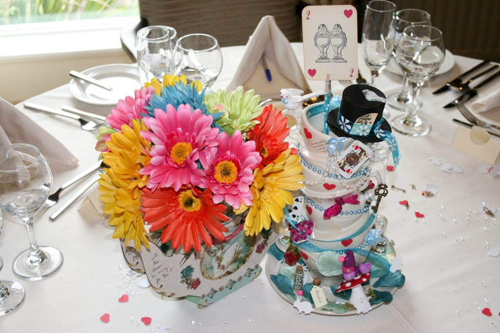 Cumbria Wedding Photographer - Alice in Wonderland table decorations