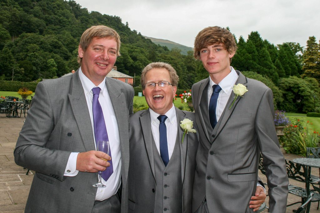 Cumbria Wedding Photographer - father of bride and ushers