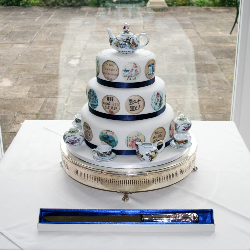 Cumbria Wedding Photographer - Alice in Wonderland wedding cake