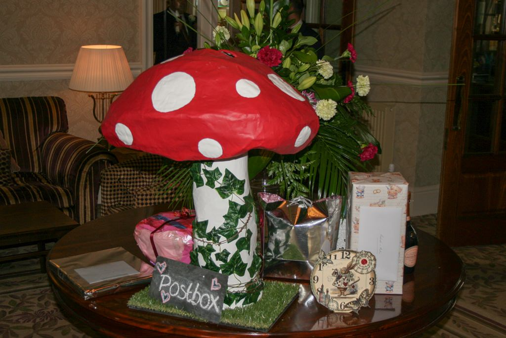 Cumbria Wedding Photographer - fantasy mushroom postbox
