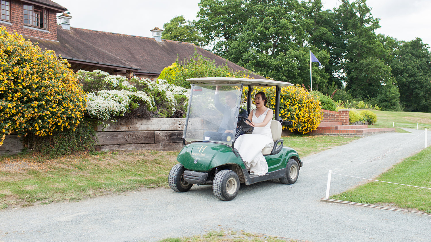 Lark on your golf kart to make it a perfect wedding day.