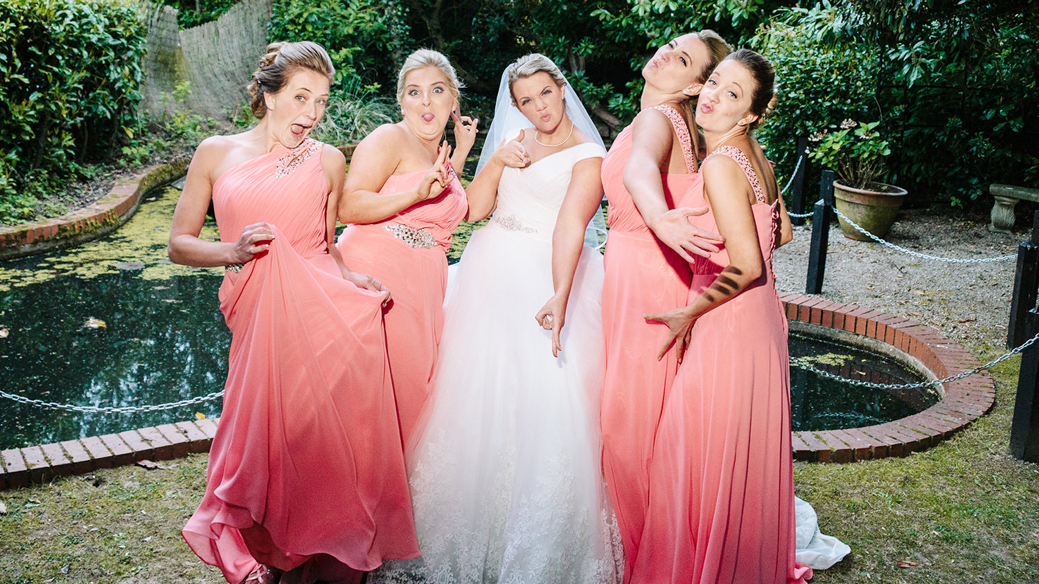Make it your perfect wedding by dancing with your bridesmaids.